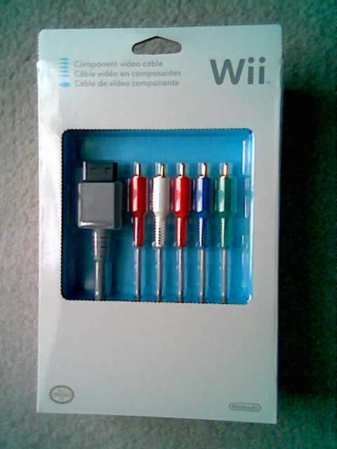 Wii Component Cable Arrived!