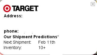 Target Getting Wii Shipments