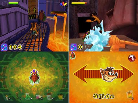 Crash of the Titans DS Screens