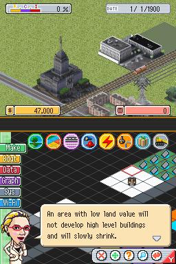 Sim City DS: Screens
