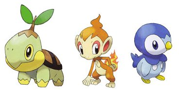 Are pokemon diamond and pearl starters share