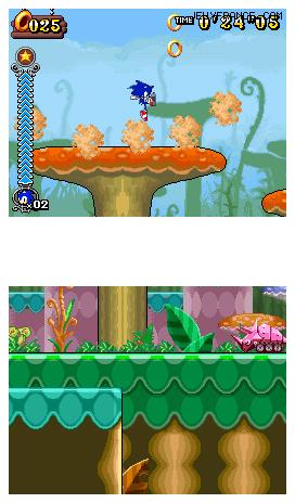 Sonic Rush Adventure Screens