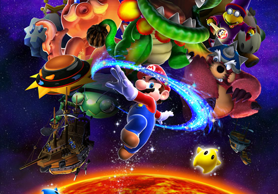 wii wallpapers. Super Mario Galaxy Wallpapers