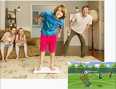 Wii Fit Stretches in the UK, April 25