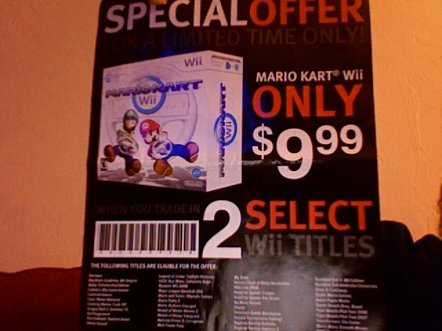 Mario Kart for $9.99 at GameStop