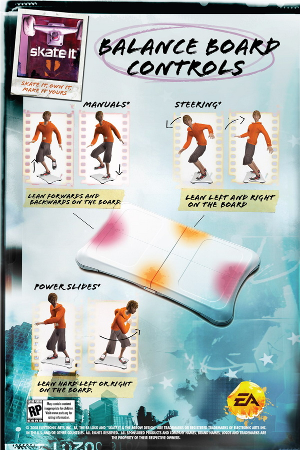 Full Skate It Wii Control Guide