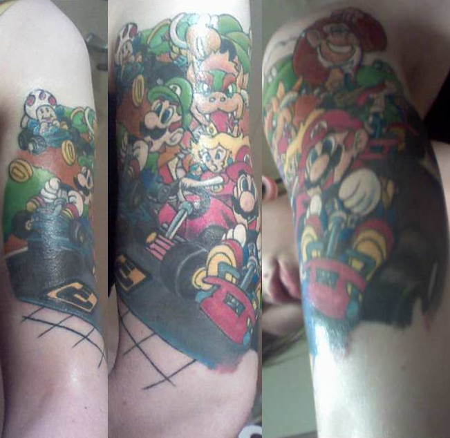 A Very Large Nintendo Tattoo · Nintendo hosts Mario Kart Wii launch party at