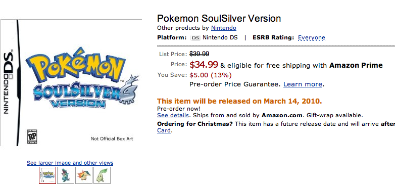 Pokemon gold release date in Melbourne