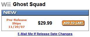 Ghost Squad price drop?