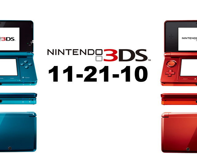 3DS to Launch Nov. 21, Here's Why