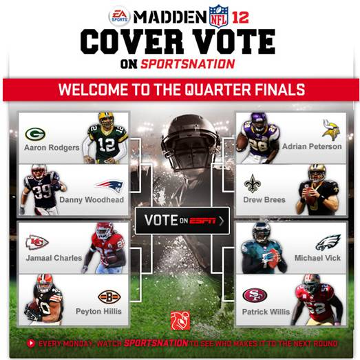 Eight nfl players advance in madden nfl 12 cover vote campaign pure