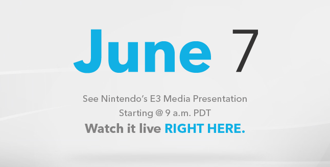 Nintendo to Stream E3 2011 Media Presentation on June 7