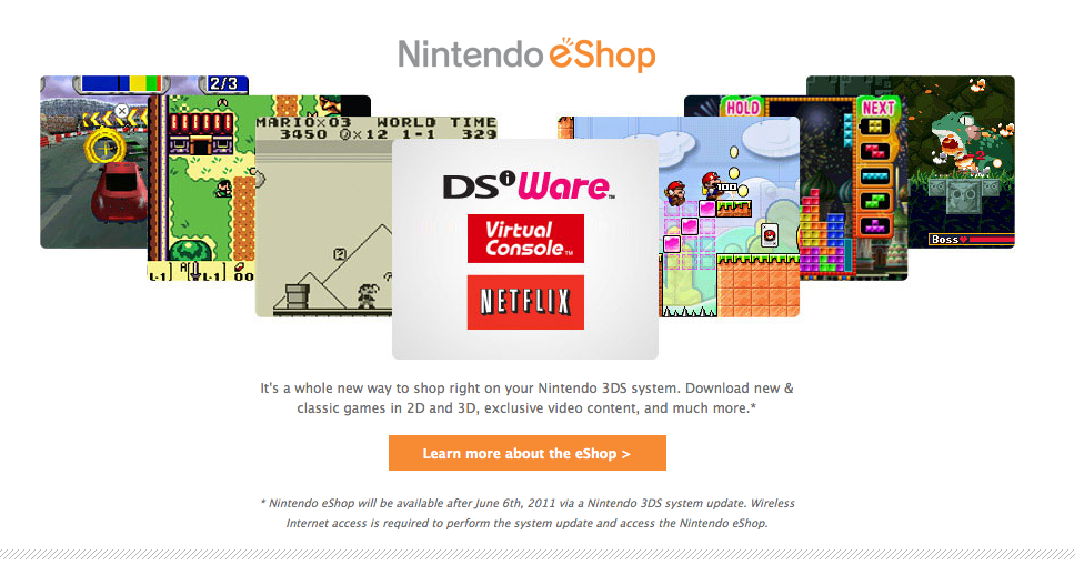 List of 3DS eShop Games/Features