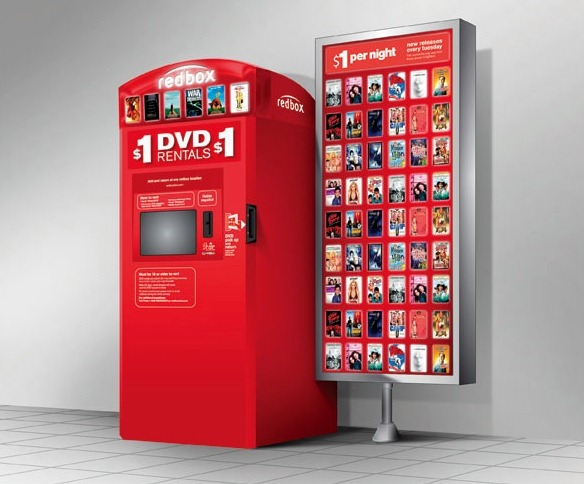 FREE Redbox DVD rental today..