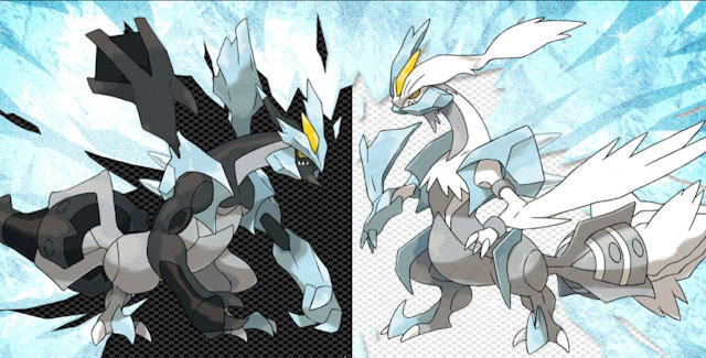 Another new signature Pokemon-black-and-white-2-black-kyurem-and-white-kyurem-artwork