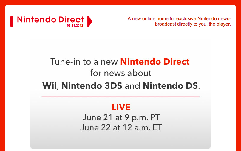 Nintendo Directs happening over the next two hours