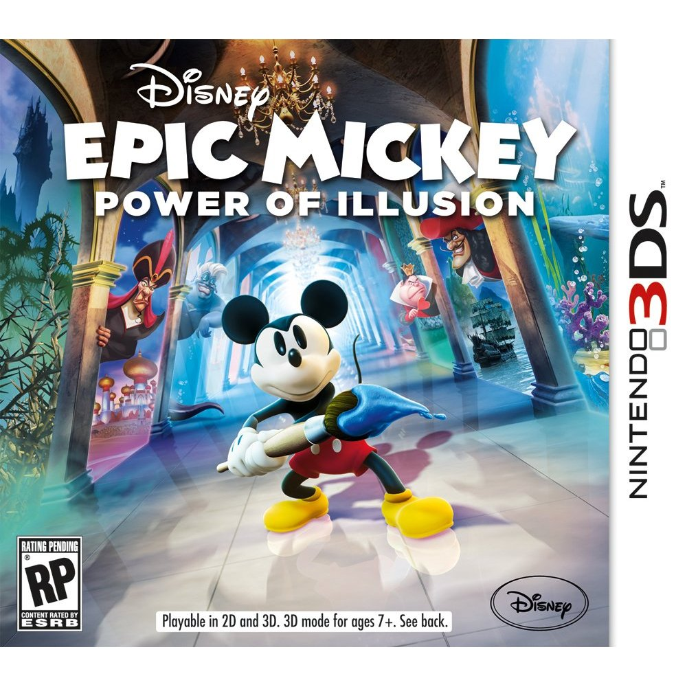 Epic Mickey Power of Illusion (3DS) Box Art