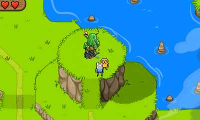 New Screens for Adventure Time on the 3DS/DS