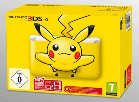 Pikachu 3DS XL UK Pre-Order