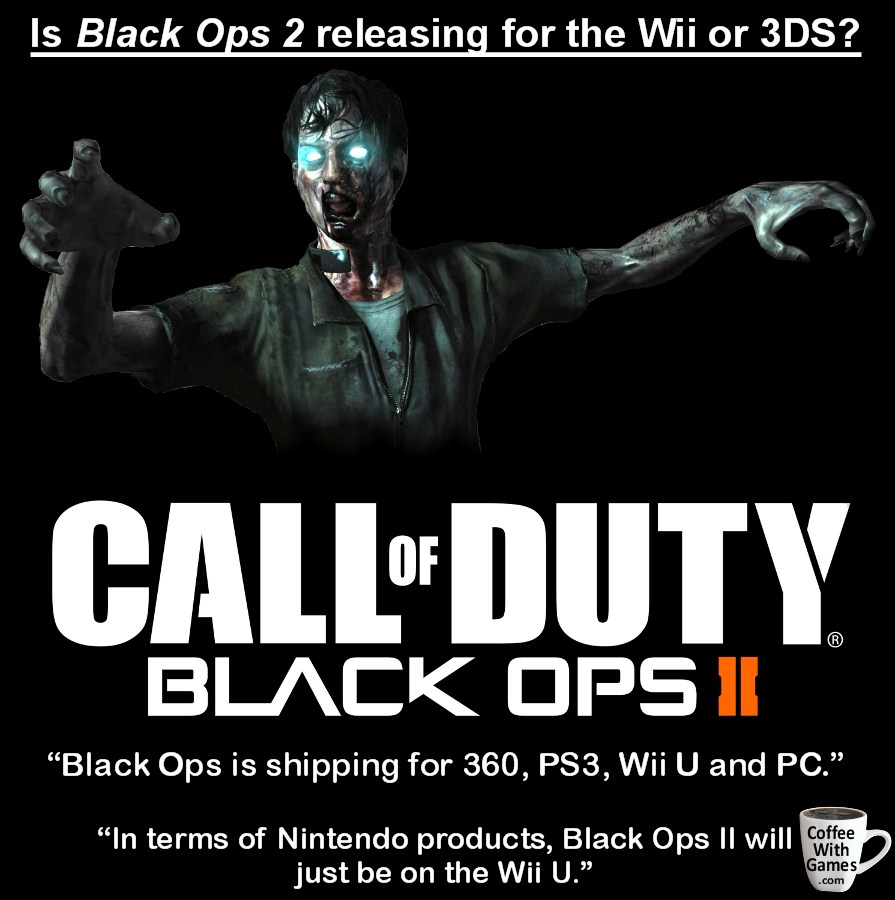 Call of Duty: Black Ops II only coming to Wii U, no other Nintendo platforms