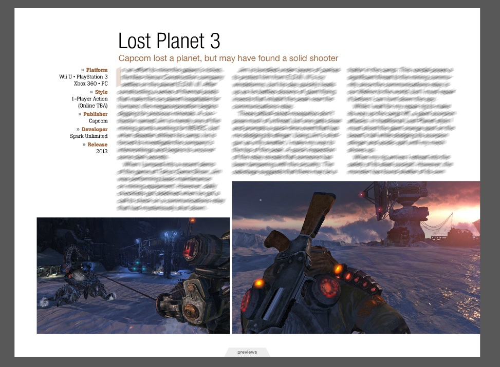 Game Informer has Lost Planet 3 coming to Wii U