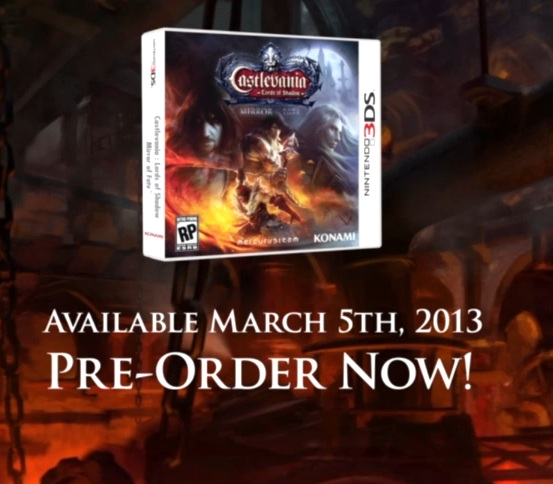 New Castlevania: Lords of Shadows – Mirror of Fate (3DS) Trailer, Coming Out March 5, 2013