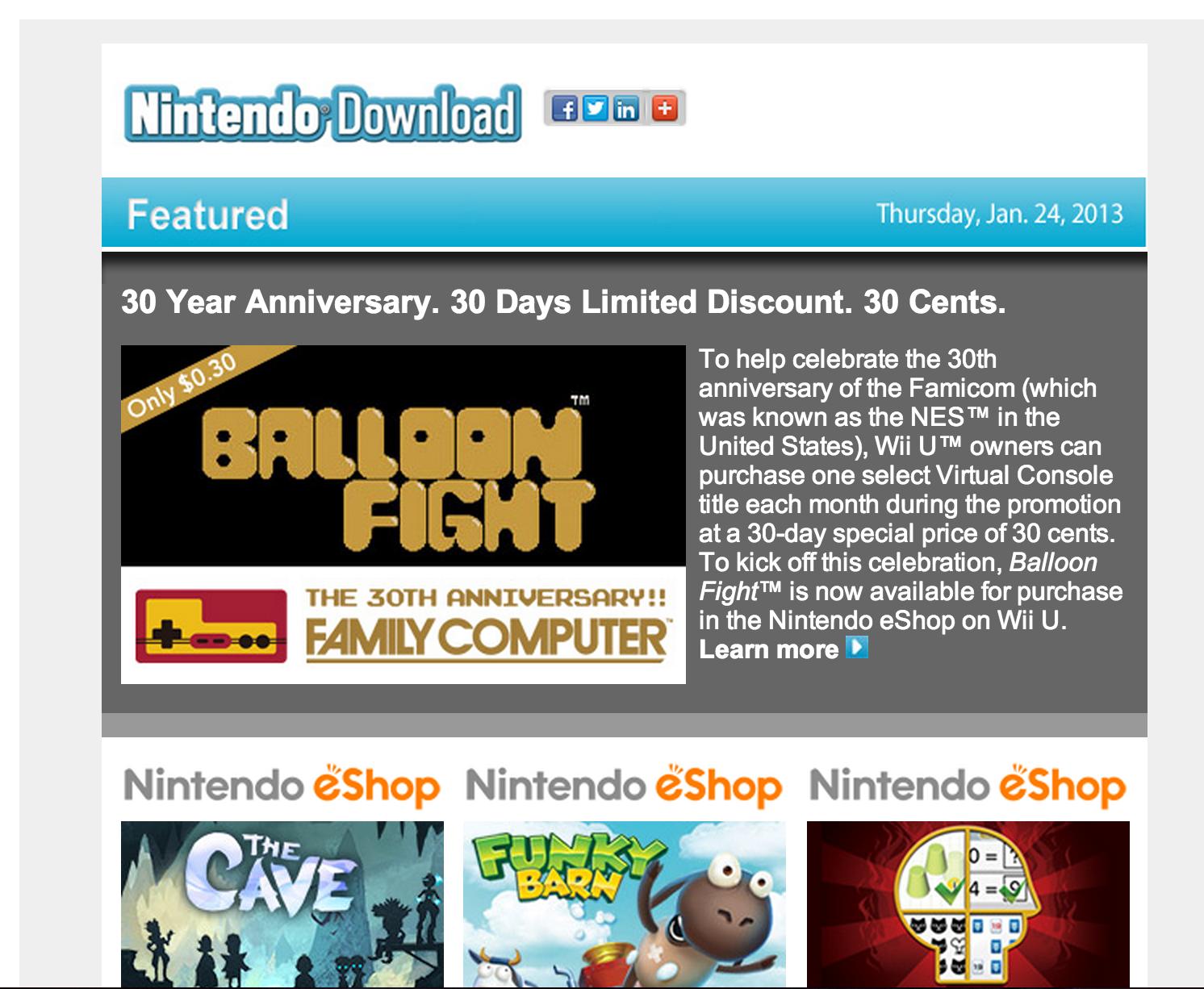 Nintendo Download – Jan 24, 2013