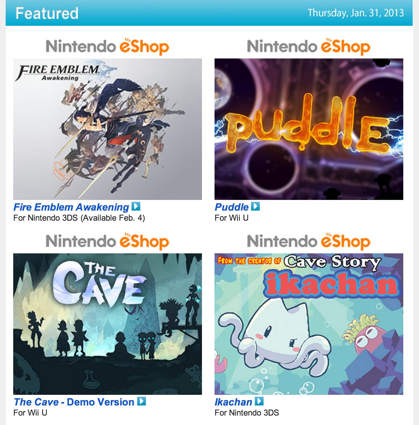 Nintendo Download – Jan. 31 2013