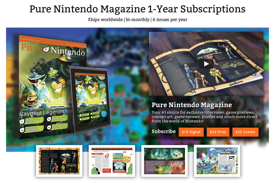 Pure Nintendo Magazine debuts first-ever interactive Nintendo magazine