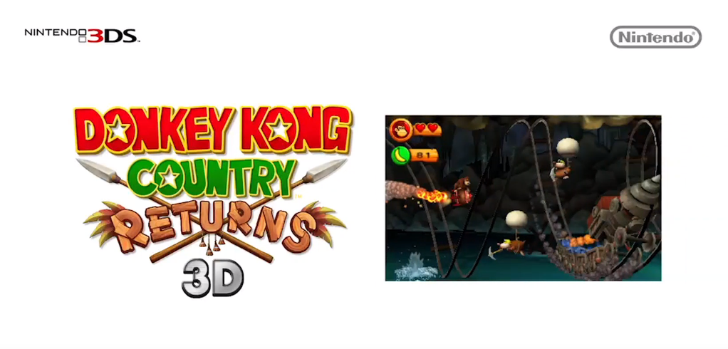 Donkey Kong Country Returns 3D Announced, First Screens