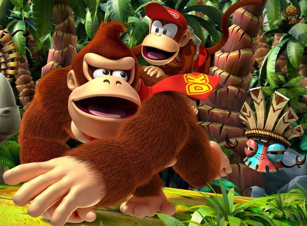 Donkey Kong Country Returns 3D vs. Wii comparison