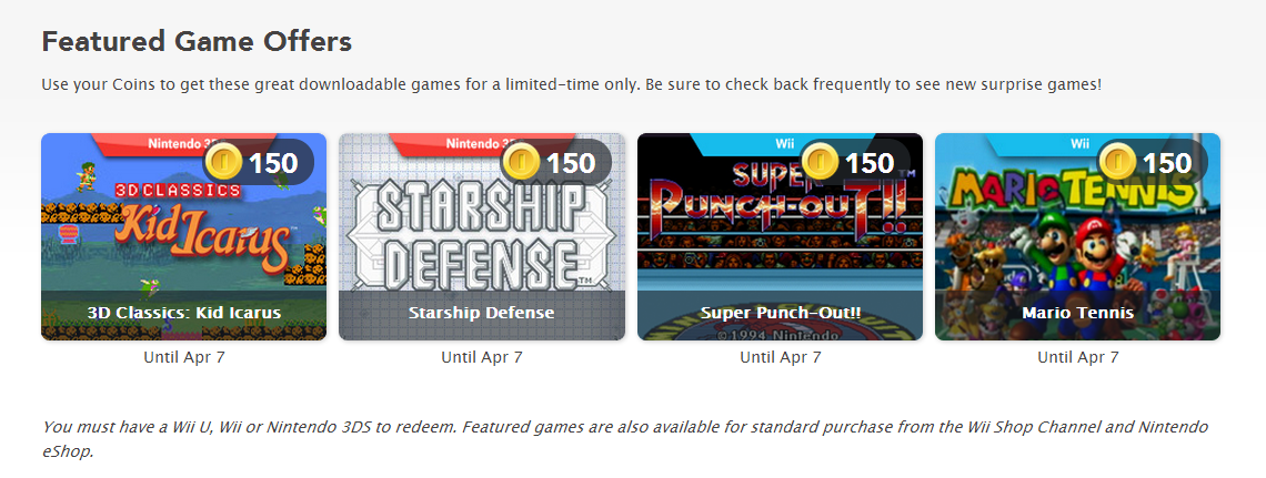 Club Nintendo: 4 more downloadable rewards revealed