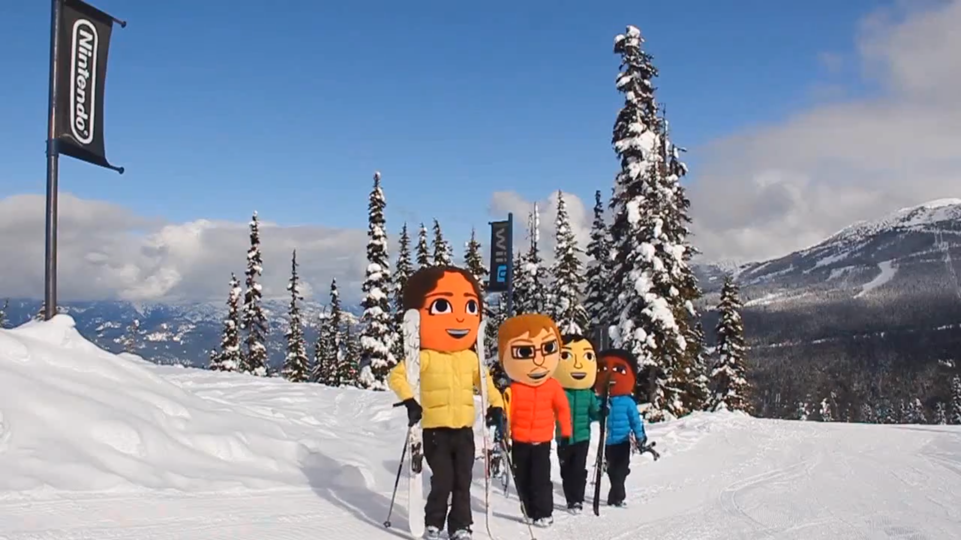 The Miis take a snow day at Whistler Blackcomb