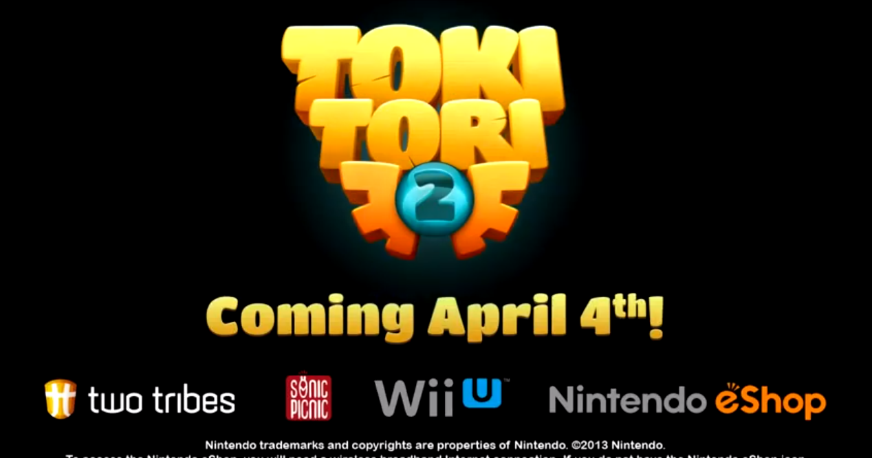 Toki Tori 2 for Wii U releases world-wide on April 4th!