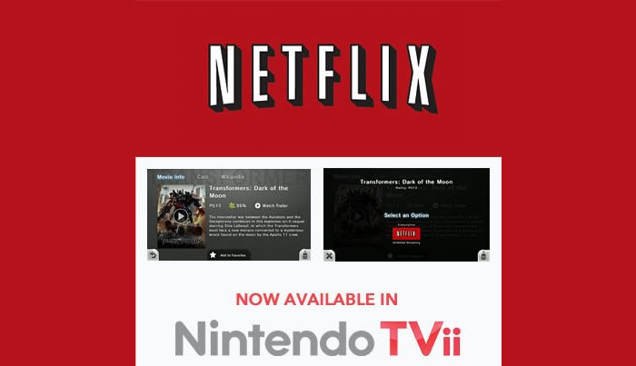 Netflix Now Available on Nintendo TVii