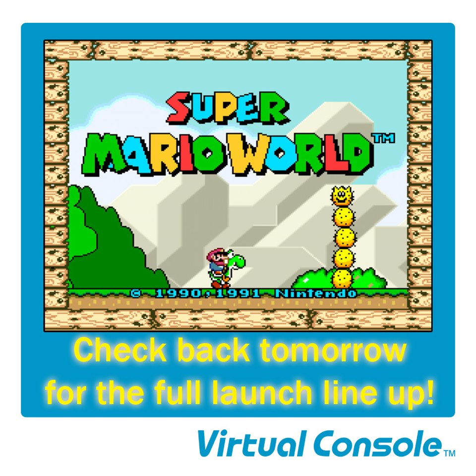 Wii U Virtual Console not being released tomorrow?