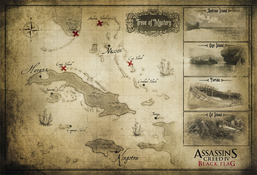 Assassin S Creed Iv Black Flag Map Pure Nintendo