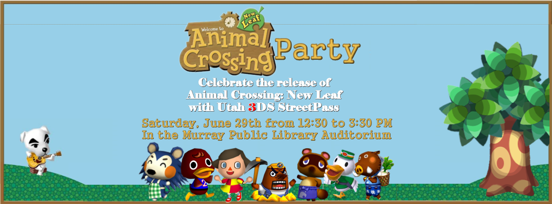 Utah 3DS StreetPass Animal Crossing Party