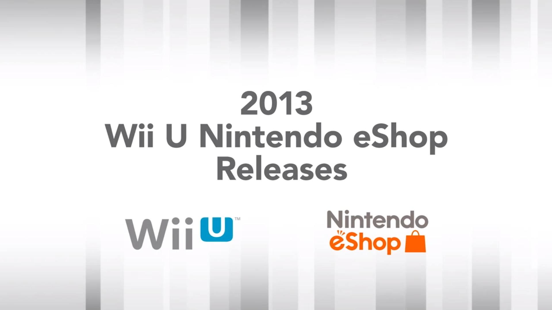 2013 Nintendo Wii U eShop Releases