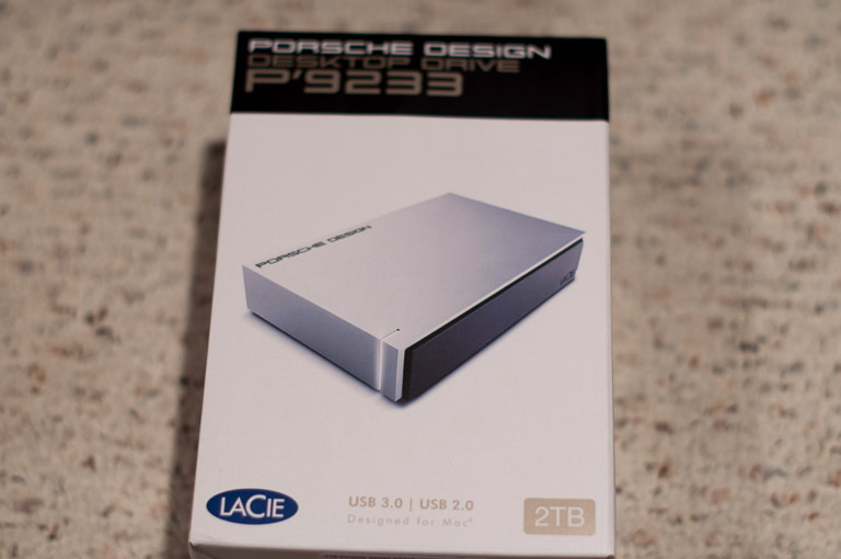 LaCie P'9233 Front of Box
