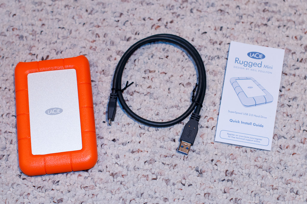 LaCie Rugged Mini package contents