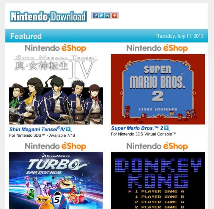 Nintendo Download – July 11, 2013