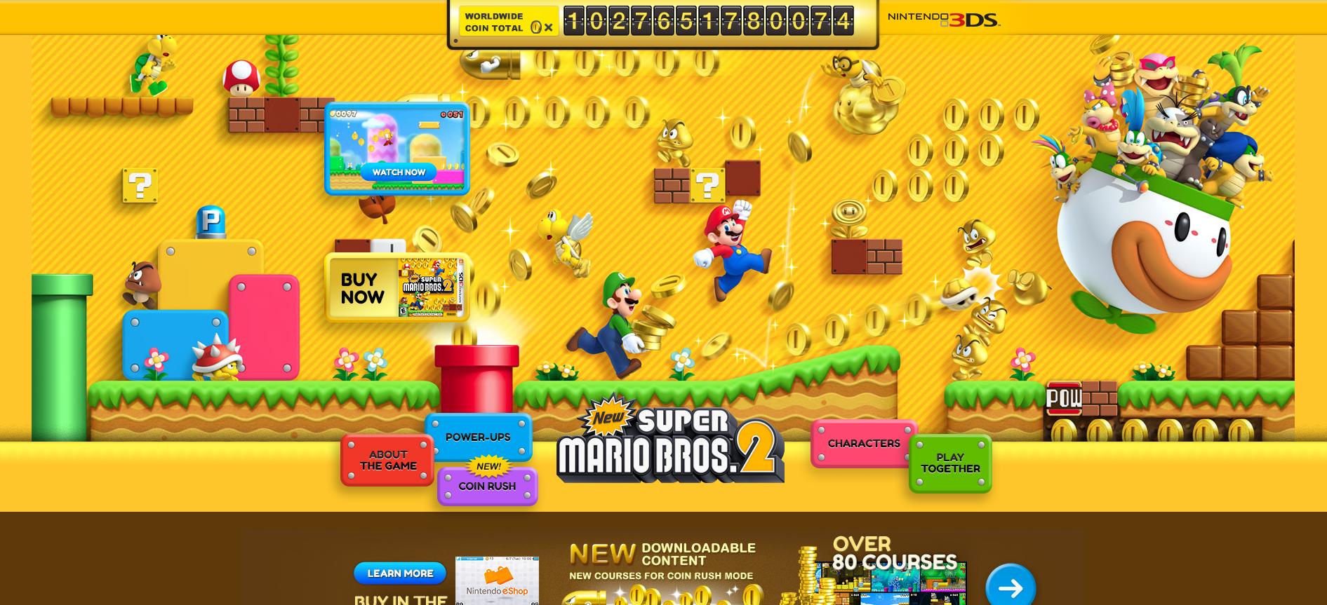 New Super Mario Bros  2 players collect over 1 trillion