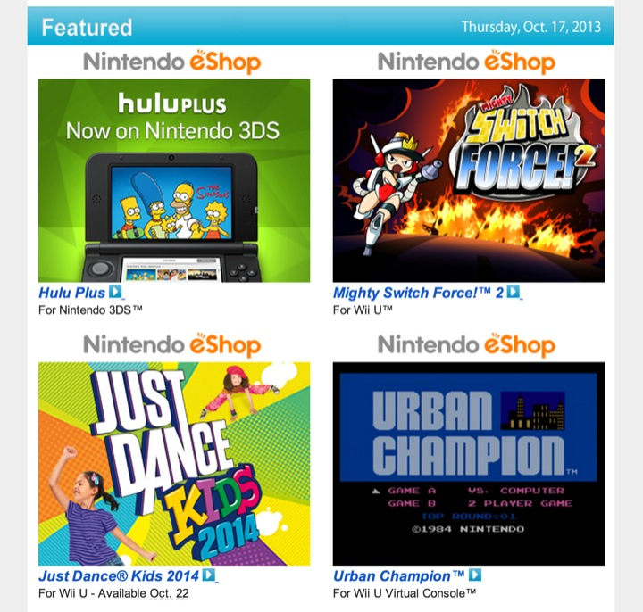 Nintendo Download – October 17, 2013
