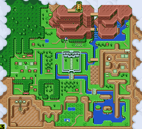 Map Comparison Between A Link Between Worlds and A Link to ...