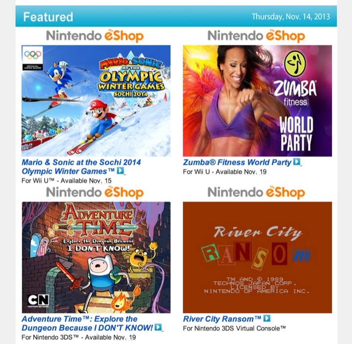 Nintendo Download – November 14, 2013