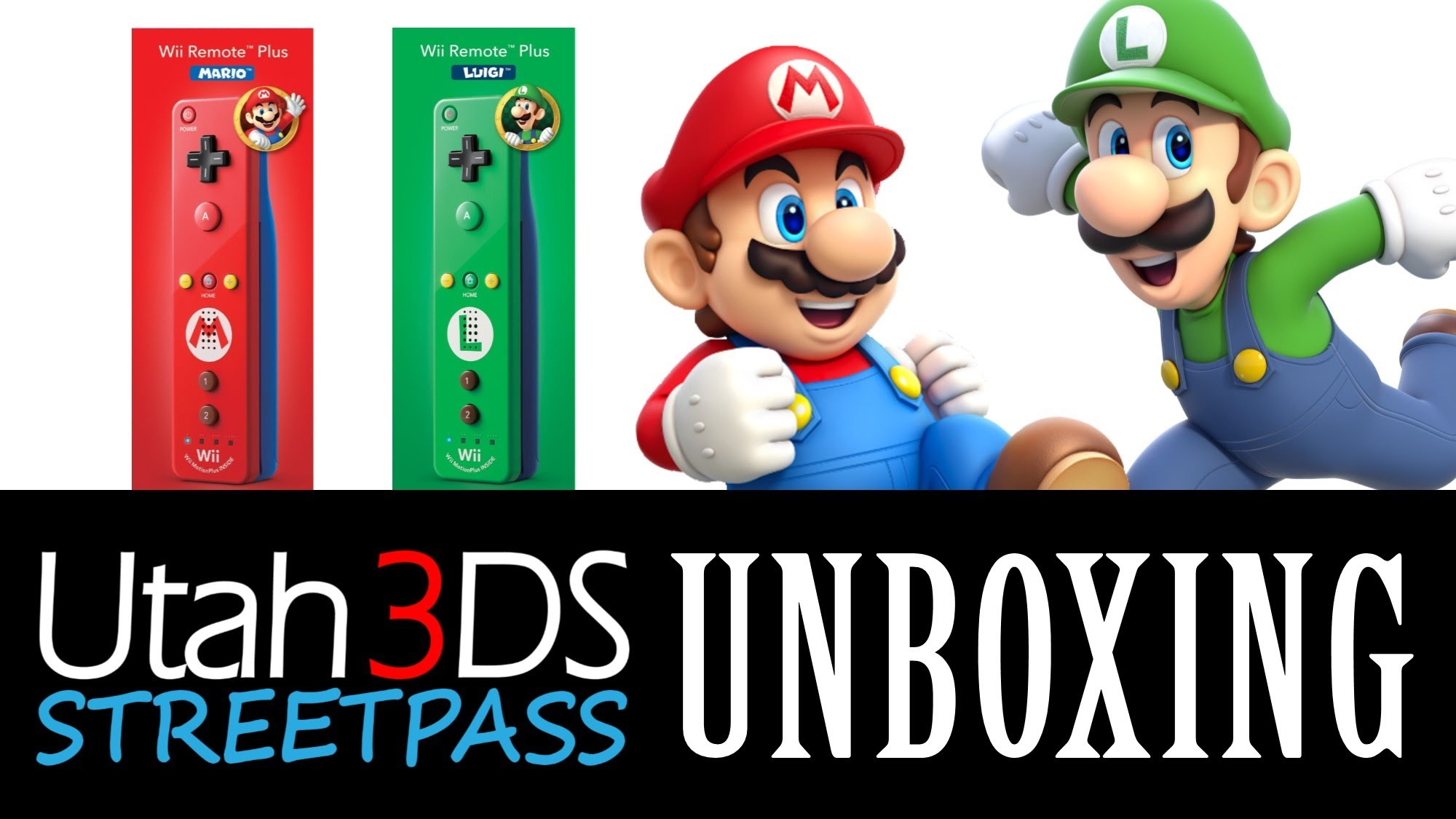 Unboxing – Mario and Luigi Wii Remote Plus controllers