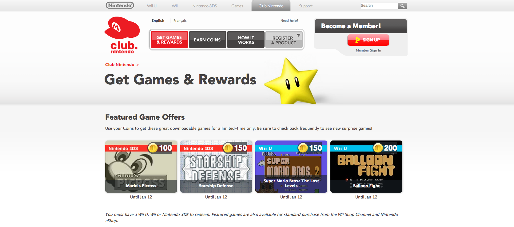 Club Nintendo Rewards Now Has Wii U Virtual Console Titles