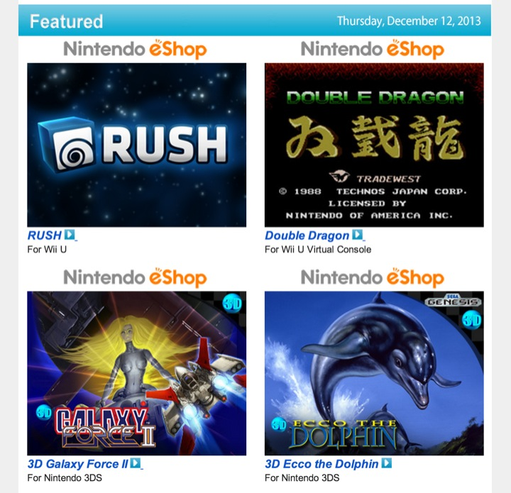 Nintendo Download – December 12, 2013