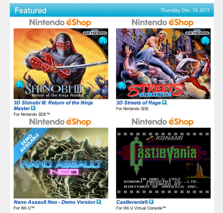 Nintendo Download – December 19, 2013